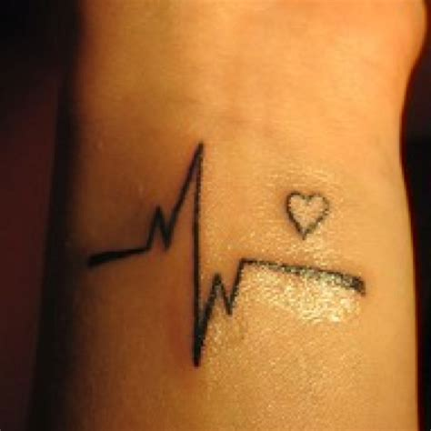 ekg tattoo on wrist pin ekg on pinterest