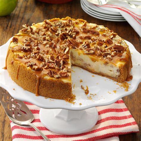 caramel apple cheesecake recipe taste of home