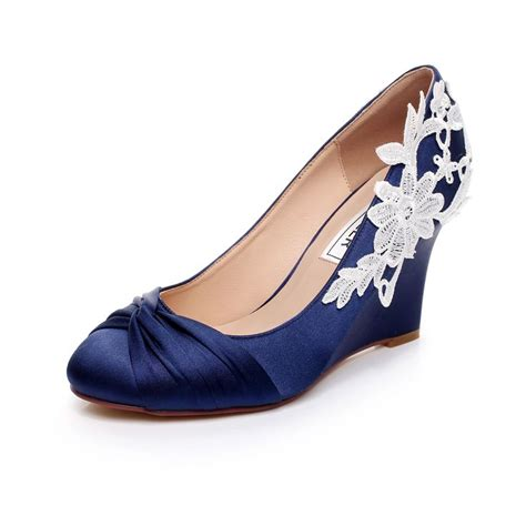 Blue Bridal Wedges by 17 Best Luxveer Blue Wedding Wedges With Lace Ivory