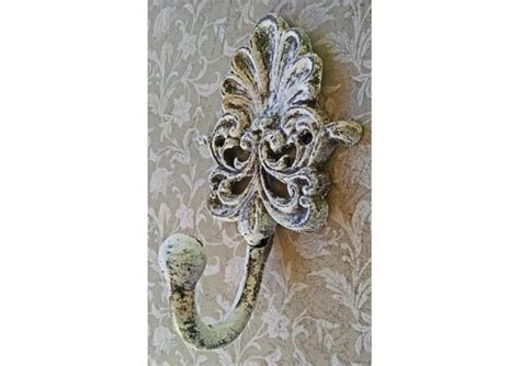 shabby chic hooks country shabby chic ornate white forged metal