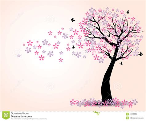 Birdcage Wall Art Stickers the silhouette of cherry trees and butterfly stock vector