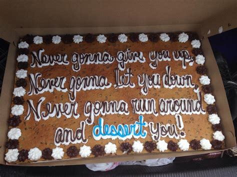 Rickrollokie Cake With Never Gonna Give You Up Lyrics