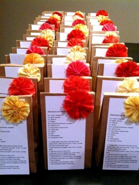 DIY Bridal Shower Recipe favors : wedding bridal shower