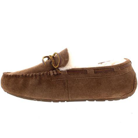 loafer slipper mens moccasin real sheepskin australian genuine fur lined