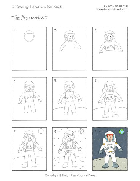 doodle drawing lessons how to draw an astronaut easy drawing tutorials for