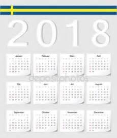 Hungary Kalender 2018 2016 Kalender Med Svensk Flagg Stock Vektor
