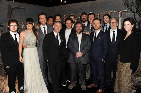 Cast Photos From The Hobbit London Premiere Moviespoon Cast Of The With The