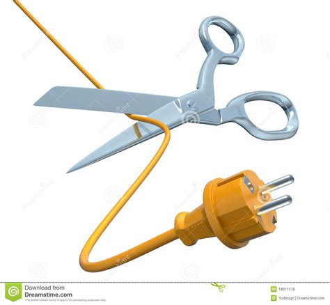 cut wires scissors cutting the cord stock illustration image of