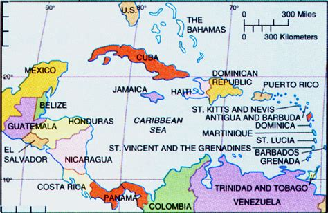 west indies political map map