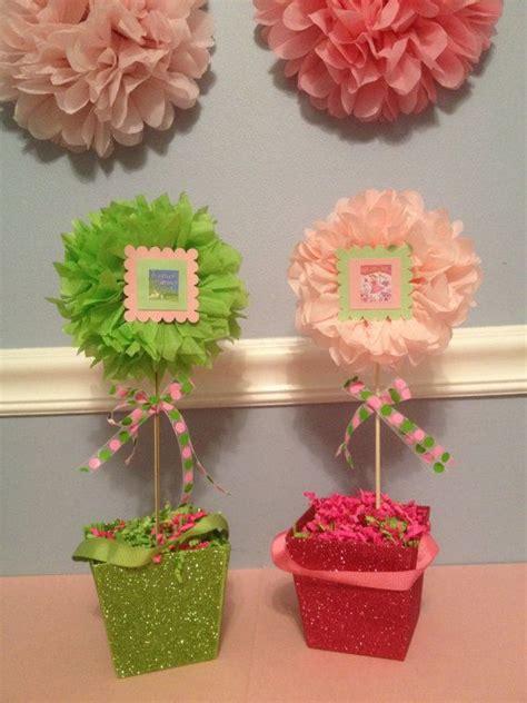 children s book theme floral tissue pom pom topiary