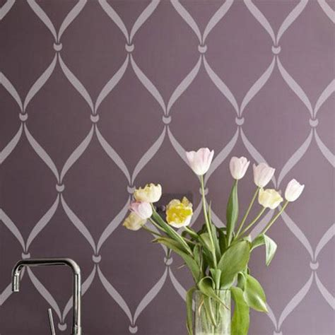 Ribbon Lattice Wall Stencils for Decorating Home Decor