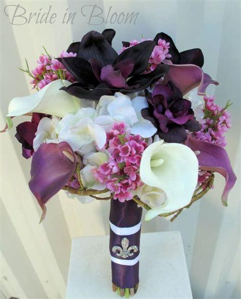 wedding bouquet bridal bouquet plum purple calla