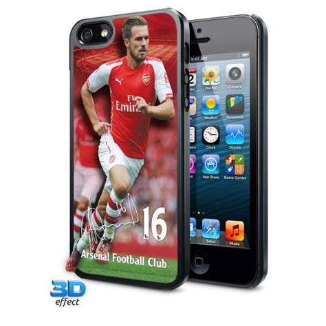 Casing Hardcase Hp Iphone 5 5s Arsenal Fc X4285 arsenal fc iphone 5 5s 3d ramsey the official merchandise store