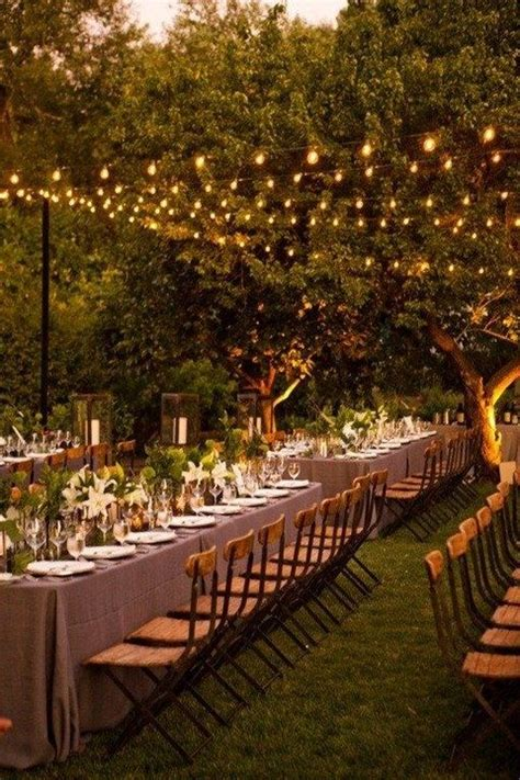 38 Outdoor Wedding Lights Ideas You Ll Love Happywedd Com Lighting For Outdoor Wedding