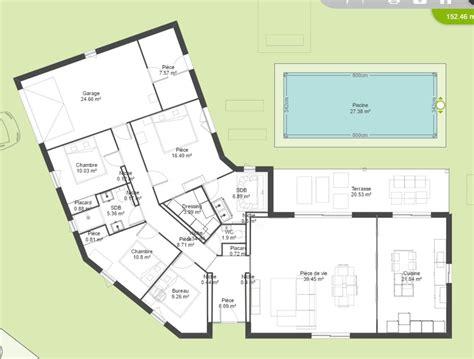 Plan De Maison Plain Pied Gratuit 3147 by Avis Plan Maison Plain Pied En V 150m 178 158 Messages