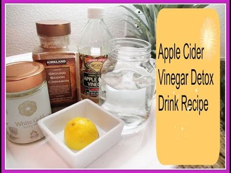 How Do The Detox Drinks Last by How To Make An Apple Cider Vinegar Detox Drink