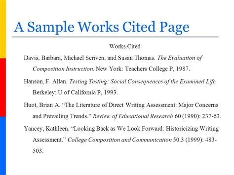 how to create a works cited page in mla format ppt video
