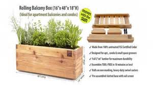 rolling garden planters for patios and balconies minifarmbox