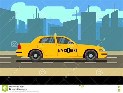 yellow light delivery service taxi cab delivery vector illustration cartoondealer com