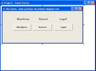 desain form vb membuat kontrol shutdown pada visual basic 6 0