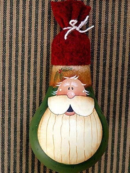 light bulbs santa santa lightbulb ornament painting on light bulbs