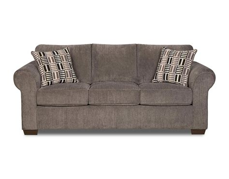 simmons upholstery ashendon sofa simmons rolled welted arm steel gray sofa shop your way