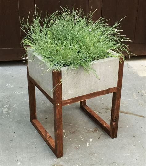 modern wood planter white home depot dih workshop modern paver planter diy projects