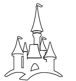 castle outline coloring page simple castle outline google search castles