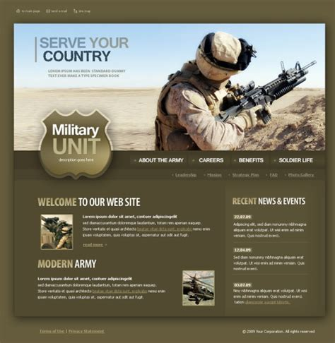 military website template 4348 military security