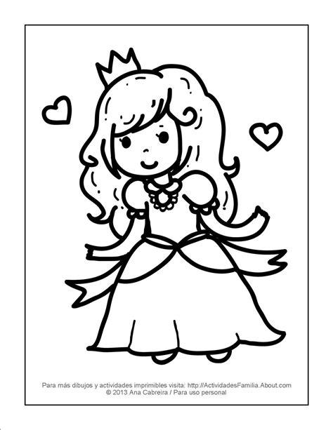imagenes para dibujar y imprimir 10 dibujos de princesas para imprimir y colorear