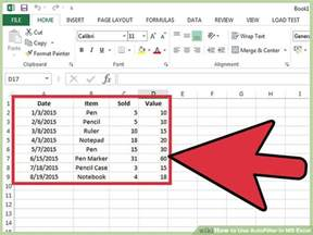 microsoft excel table templates how to use autofilter in ms excel 7 steps with pictures