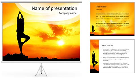 template powerpoint yoga yoga pose powerpoint template backgrounds id 0000006983