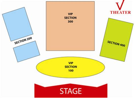 v theater seating chart v theater variety theater miracle mile shops planet