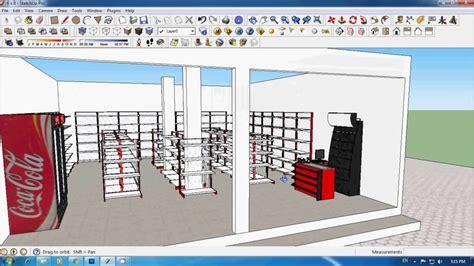 aplikasi membuat gambar bangunan 3d tutorial sketchup membuat toko minimarket bag 2 youtube