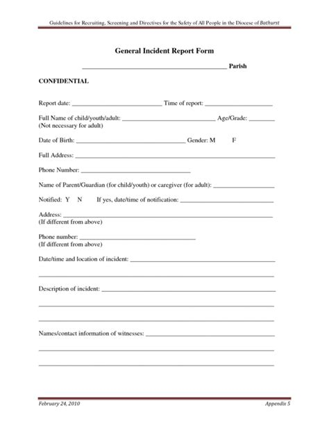 system incident report template general incident report form designed by vdq65279 helloalive