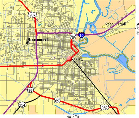 beaumont texas zip code map beaumont texas map