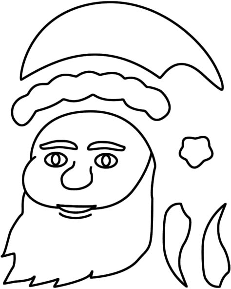 santa claus craft template 8 best images of santa claus template printable craft