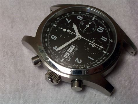 Notes On The Relastin Automatic Ship Issue 2 by Fs Hamilton 42mm Khaki Field Auto Chrono With Issues