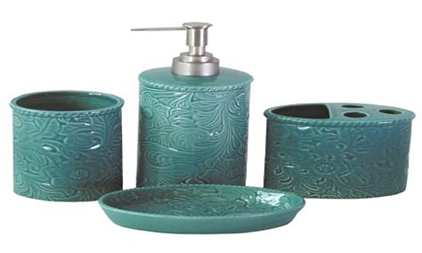 turquoise bathroom modern bathroom accessories sets