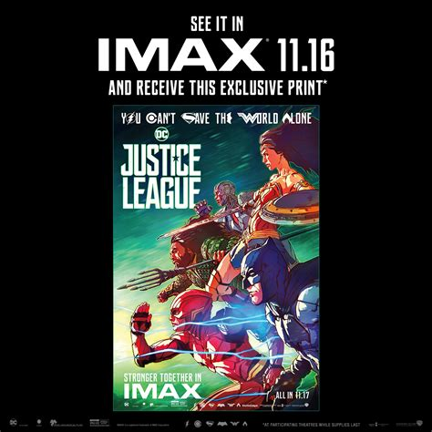 Imax Poster Giveaway - justice league imax 174 giveaways imax