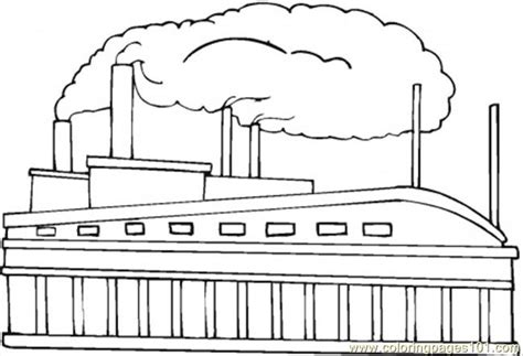 Factory Coloring Page toys factory coloring page free buildings coloring pages
