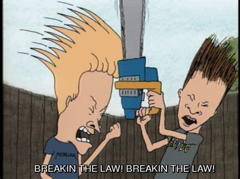 Stop Breaking The Law Meme - beavis and butthead quotes quotesgram