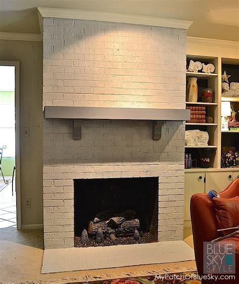 what color should i paint my brick fireplace how to paint a brick fireplace fusion mineral paint