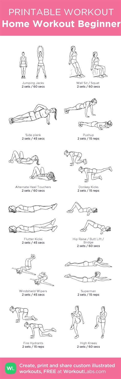 exercise plan for beginners at home 17 best ideas about workout plan for beginners on