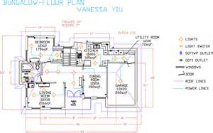 autocad bungalow floor plan vanessa s portfolio pics photos cad floor plan software