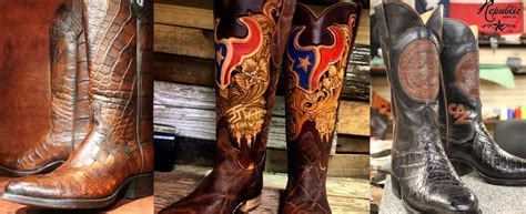 Handmade Boots Houston - legendary custom cowboy boots handmade in houston and