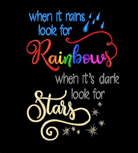 tatto when it rains look for rainbows when it s dark christmas horse embroidery design cross stitch kits