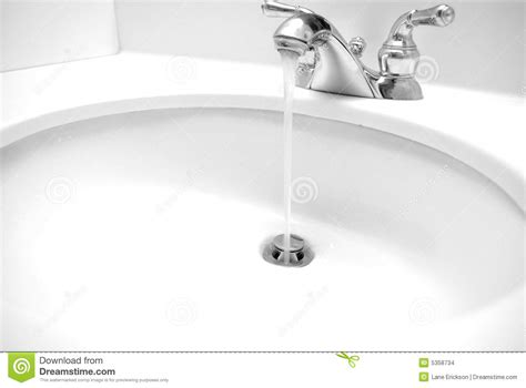 water coming out of bathtub faucet and shower head sink stock images image 5358734