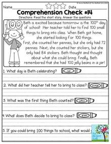 25 best ideas about first grade reading comprehension on