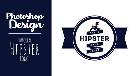 cara membuat logo retro di photoshop photoshop membuat logo hipster vintage retro design